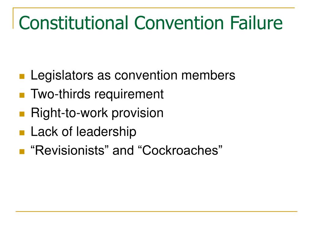 Constitutional Convention Failure