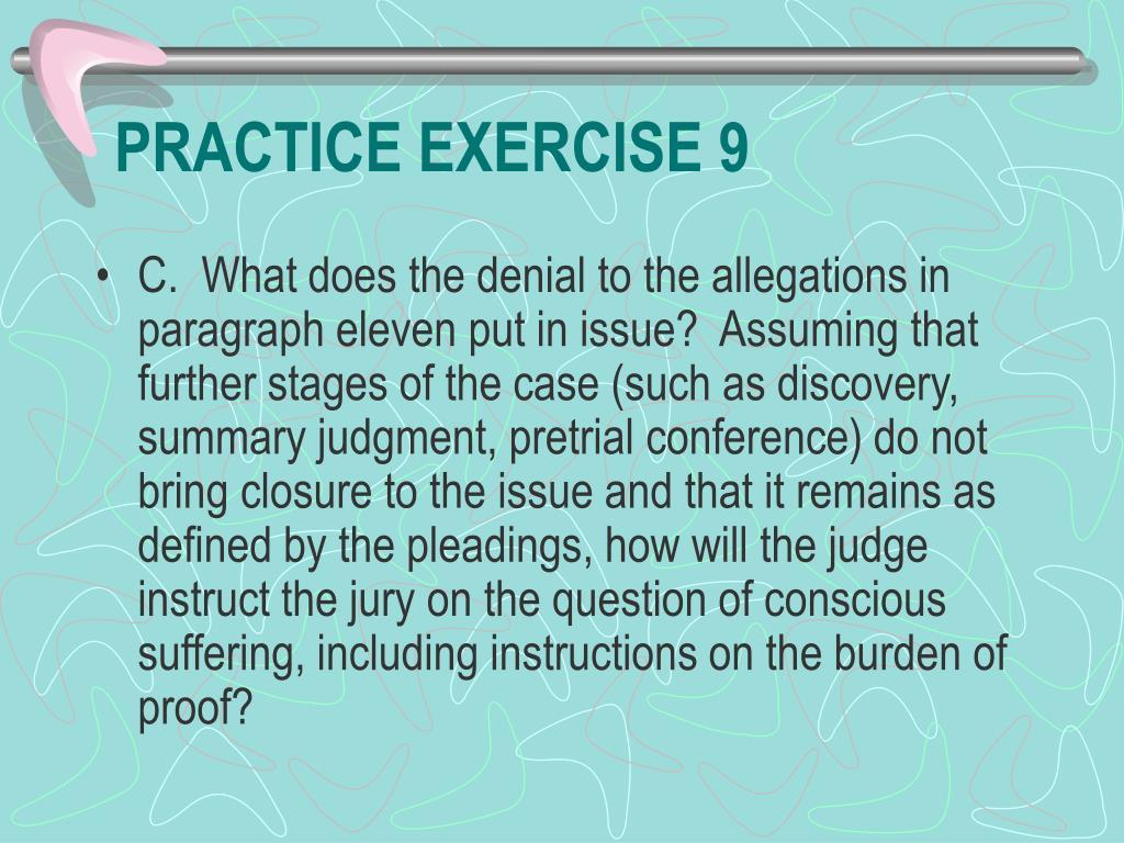 PRACTICE EXERCISE 9