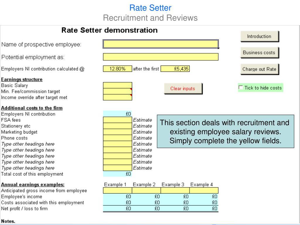 Rate Setter