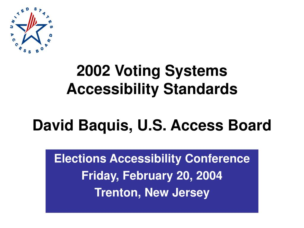 2002 Voting Systems