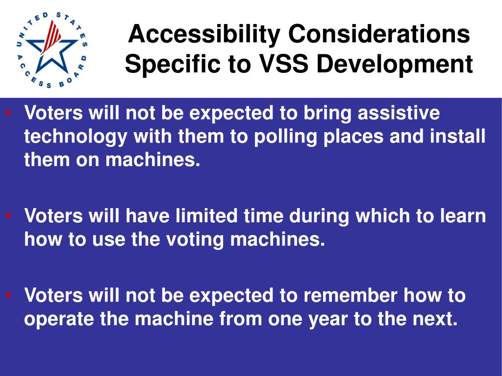 Accessibility Considerations Specific to VSS Development