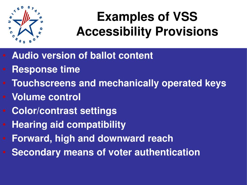 Examples of VSS
