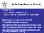 helpful federal agency websites