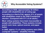 why accessible voting systems