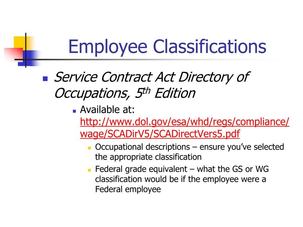 Employee Classifications