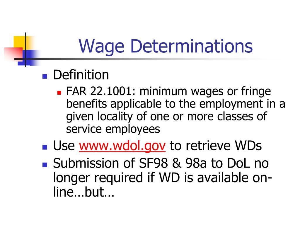 Wage Determinations