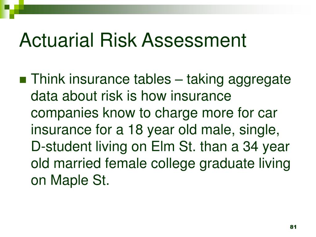 Actuarial Risk Assessment