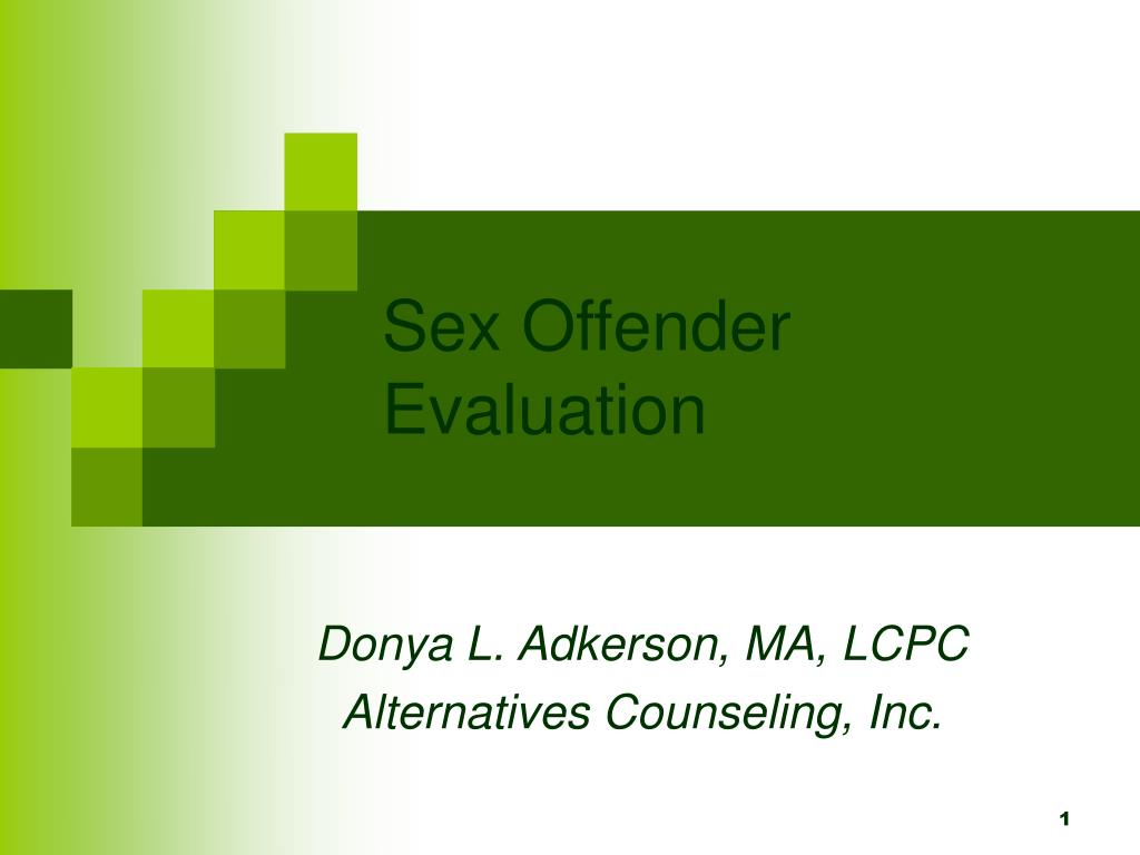 PPT Sex Offenders PowerPoint presentation free to