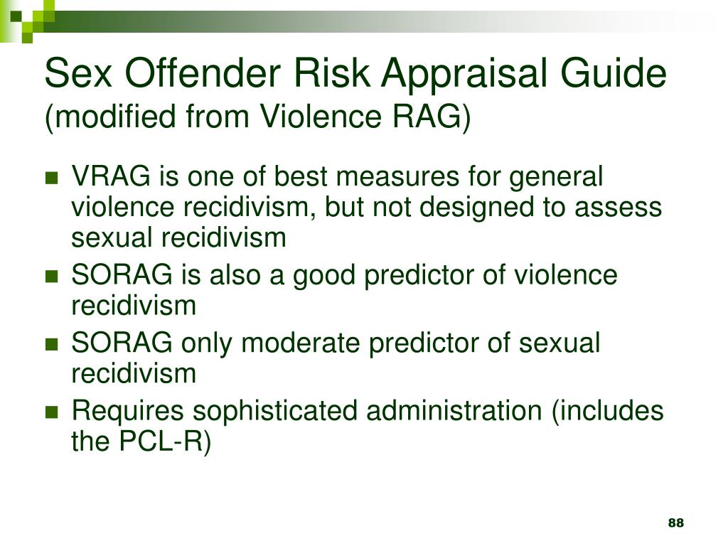 Sex Offender Risk Appraisal Guide