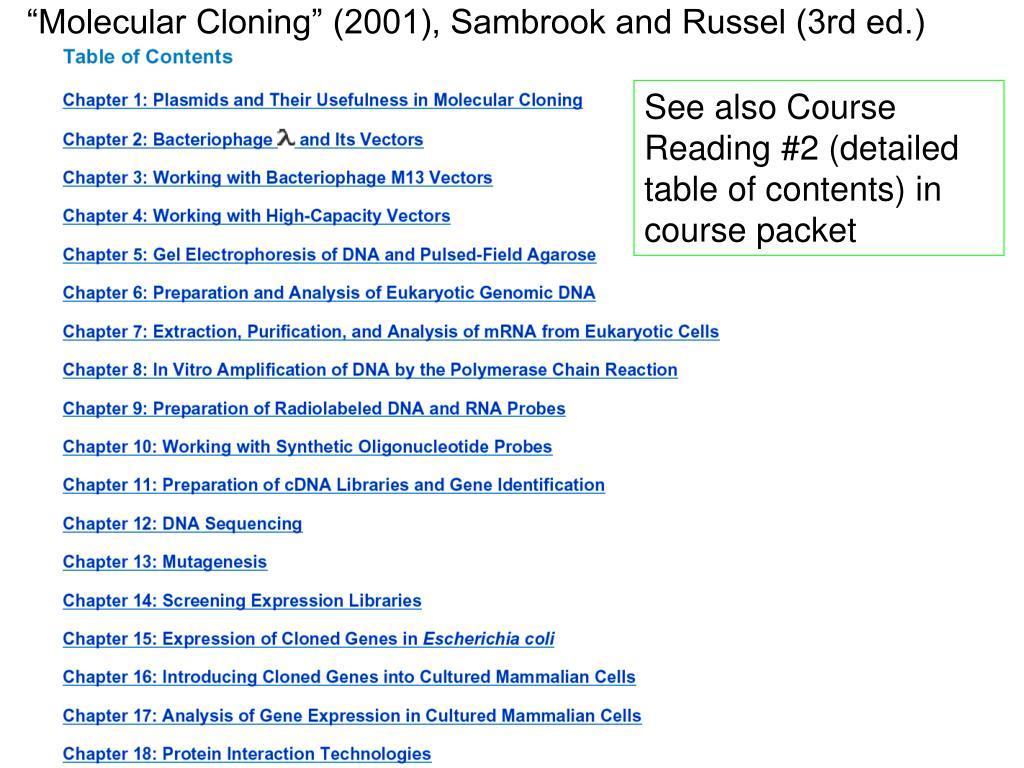 """Molecular Cloning"" (2001), Sambrook and Russel (3rd ed.)"