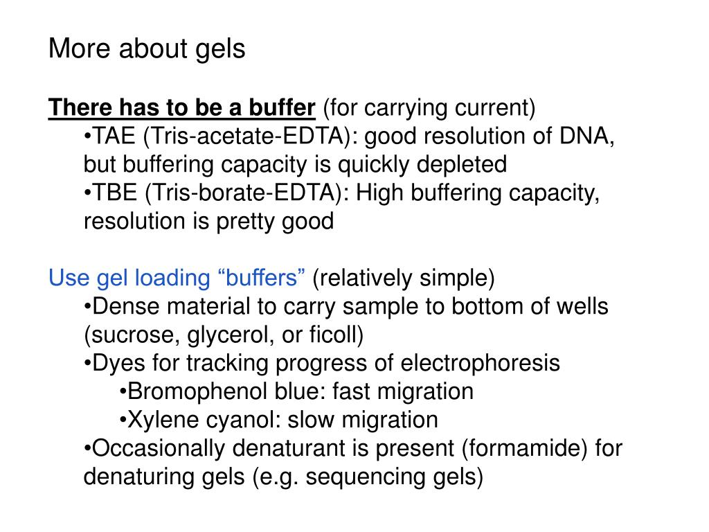 More about gels