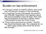 burden on law enforcement
