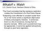 mikaloff v walsh u s district court northern district of ohio