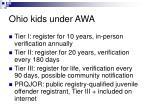 ohio kids under awa