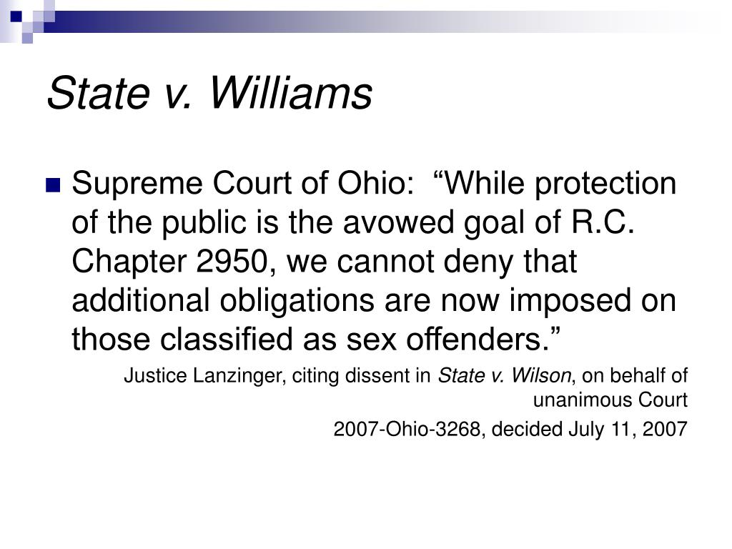 State v. Williams
