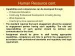 human resource cont