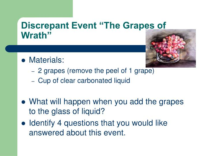 """Discrepant Event """"The Grapes of Wrath"""""""