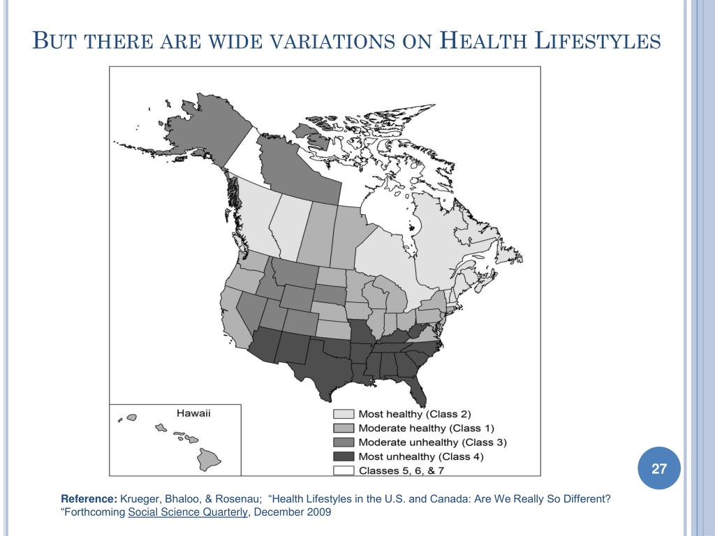 But there are wide variations on Health Lifestyles