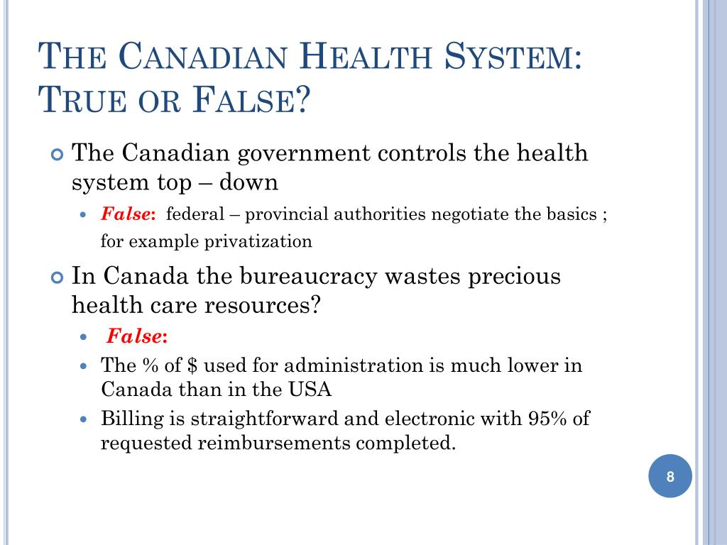 The Canadian Health System: