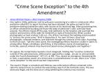 crime scene exception to the 4th amendment
