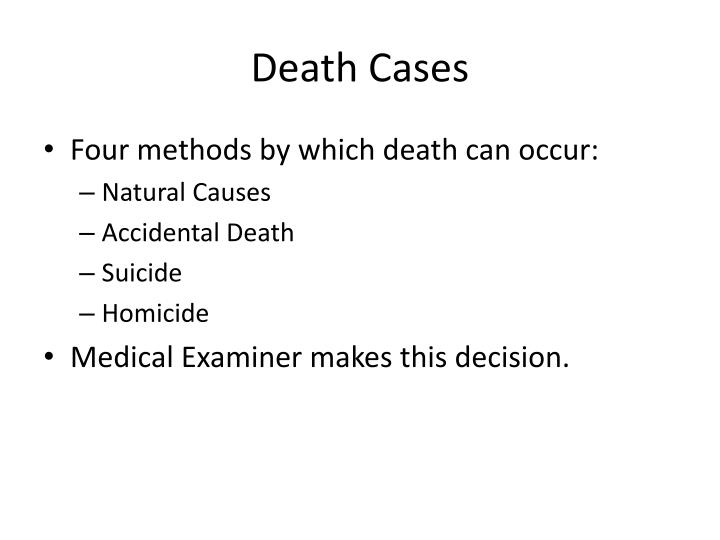 Death Cases