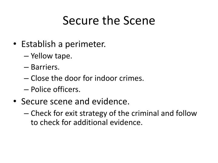 Secure the Scene