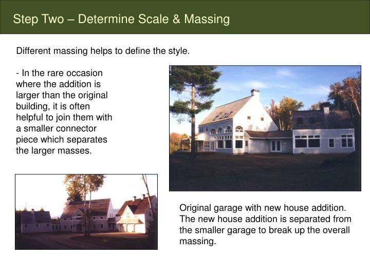 Step Two – Determine Scale & Massing