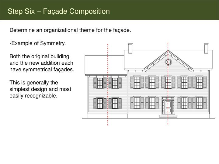 Step Six – Façade Composition