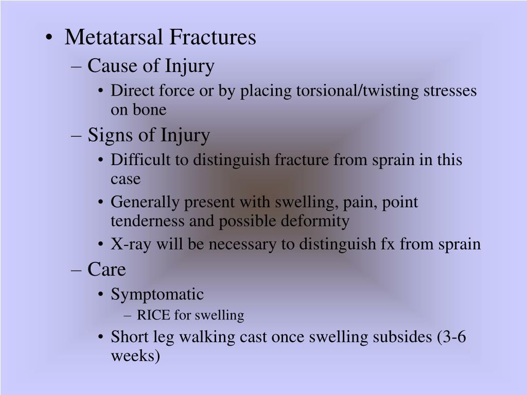 Metatarsal Fractures