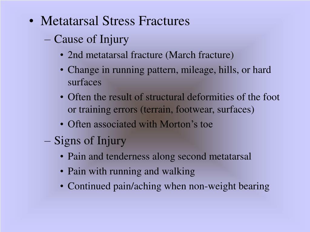 Metatarsal Stress Fractures