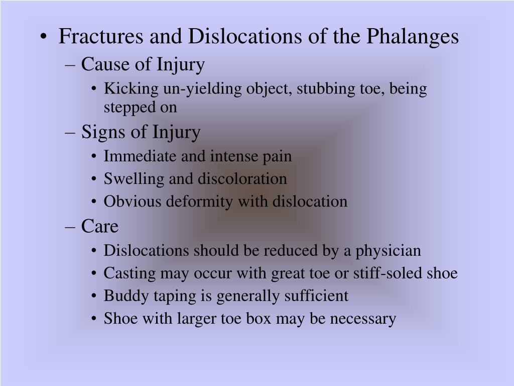 Fractures and Dislocations of the Phalanges
