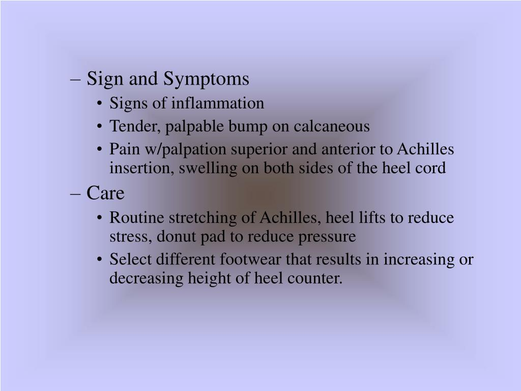 Sign and Symptoms