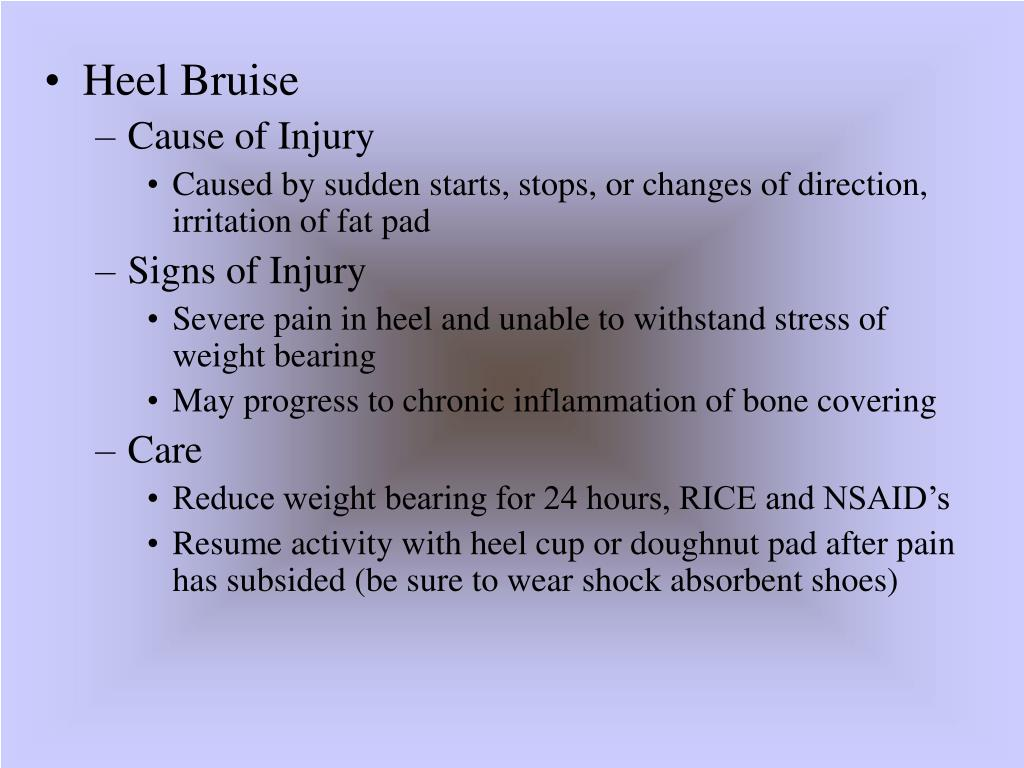 Heel Bruise