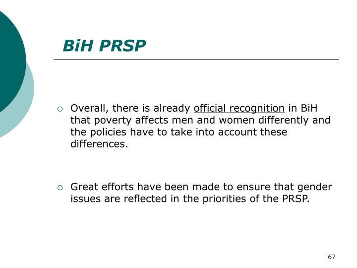 BiH PRSP