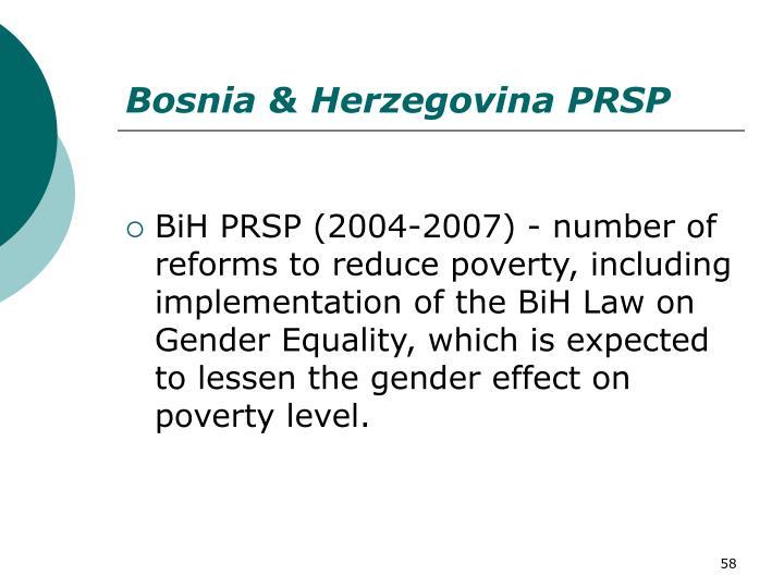 Bosnia & Herzegovina PRSP