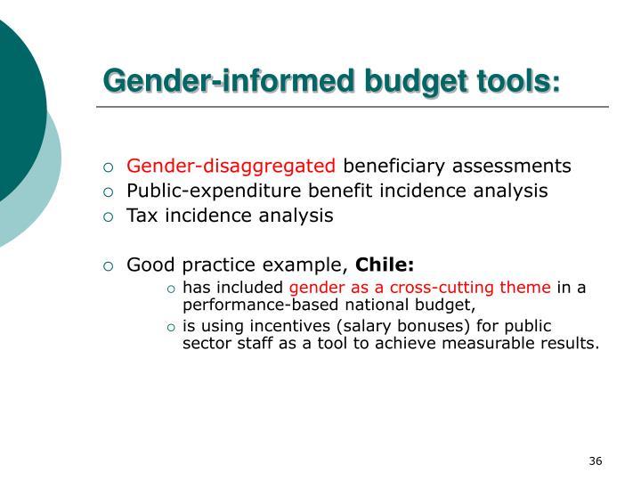Gender-informed budget tools