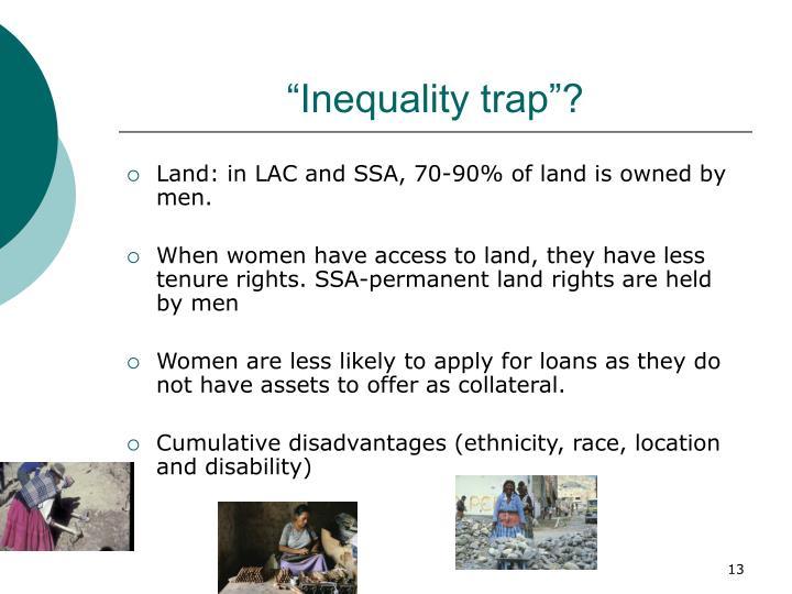 """Inequality trap""?"