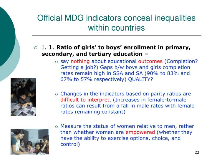 Official MDG indicators conceal inequalities within countries