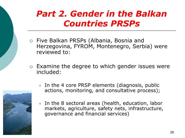 Part 2. Gender in the Balkan Countries PRSPs