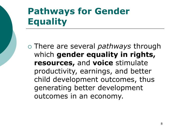 Pathways for Gender Equality