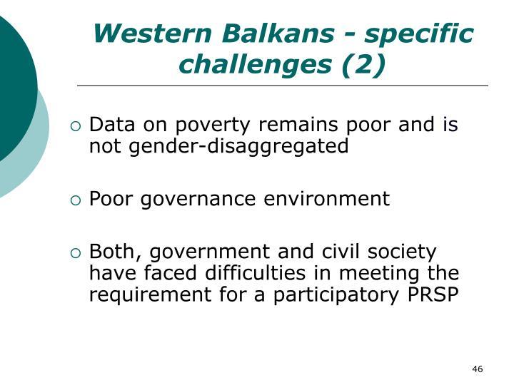 Western Balkans - specific challenges (2)