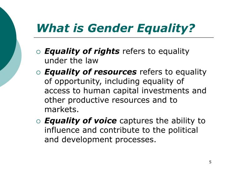 What is Gender Equality?