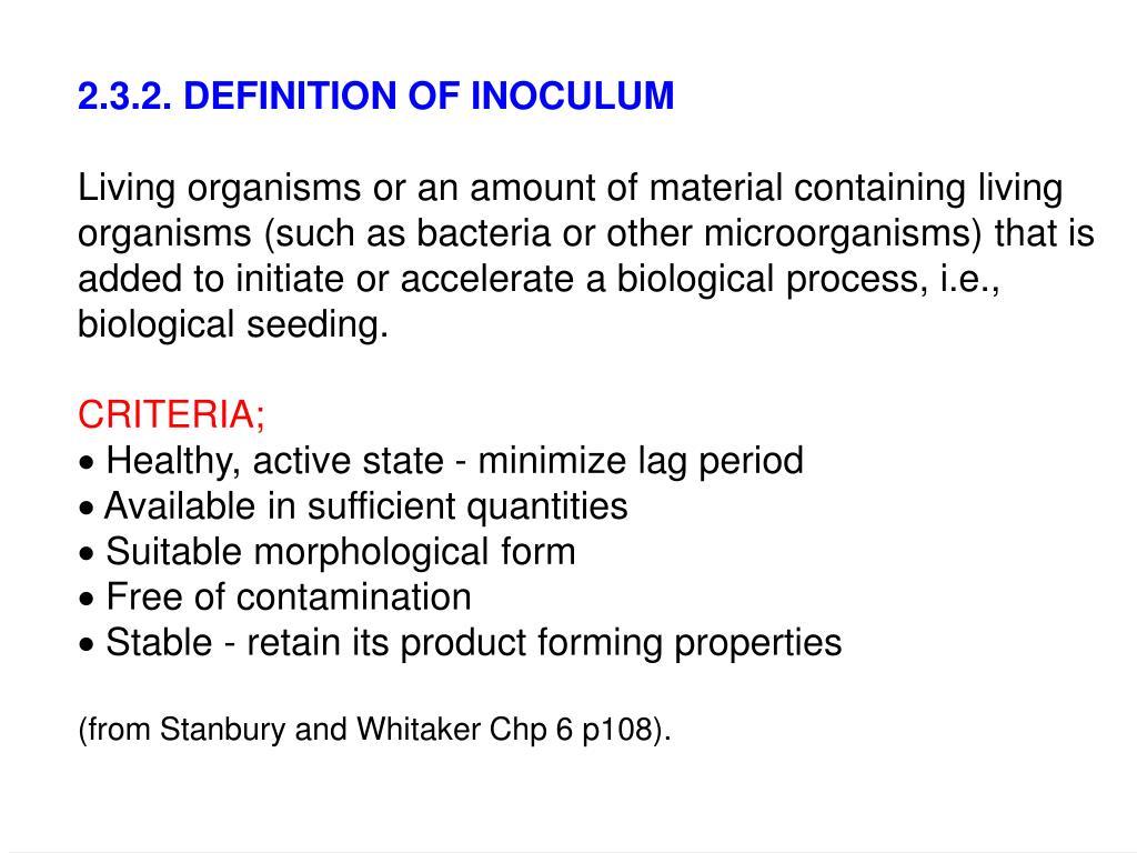 2.3.2. DEFINITION OF INOCULUM