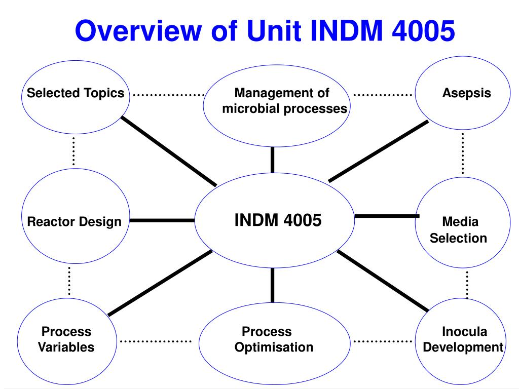 Overview of Unit INDM 4005