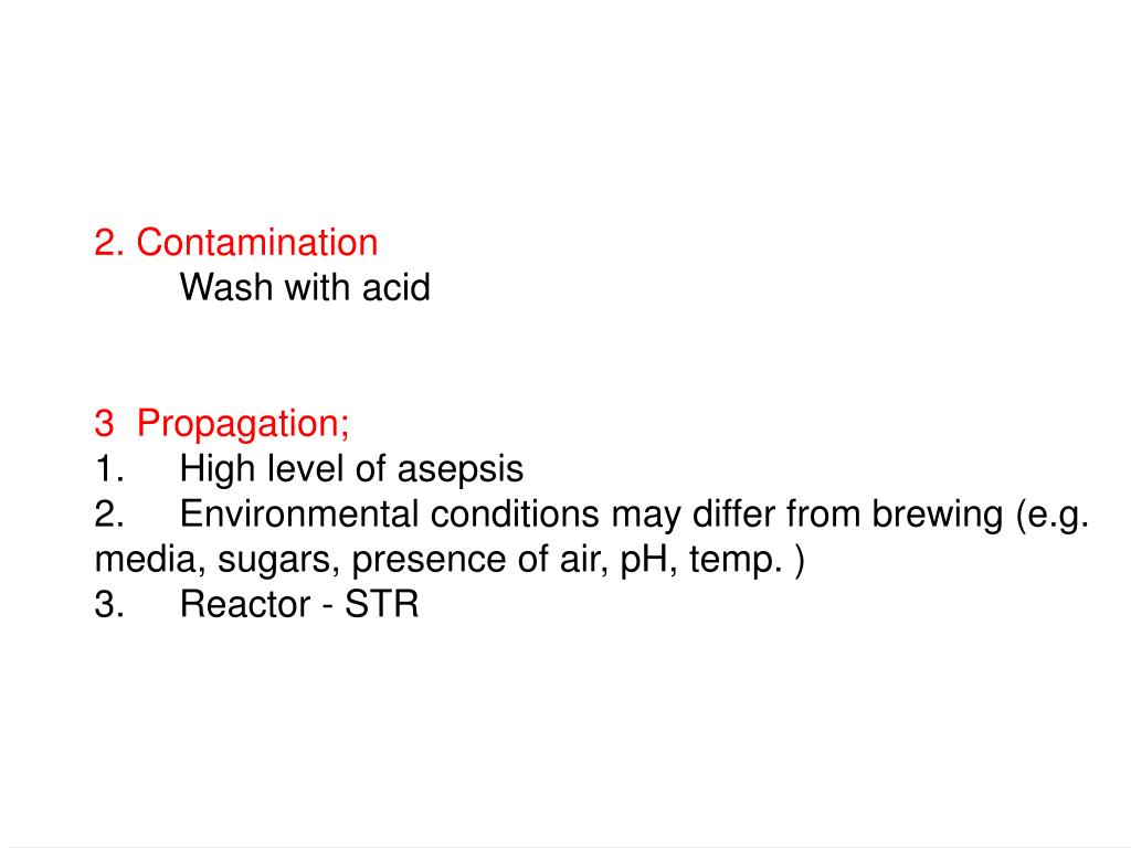 2. Contamination