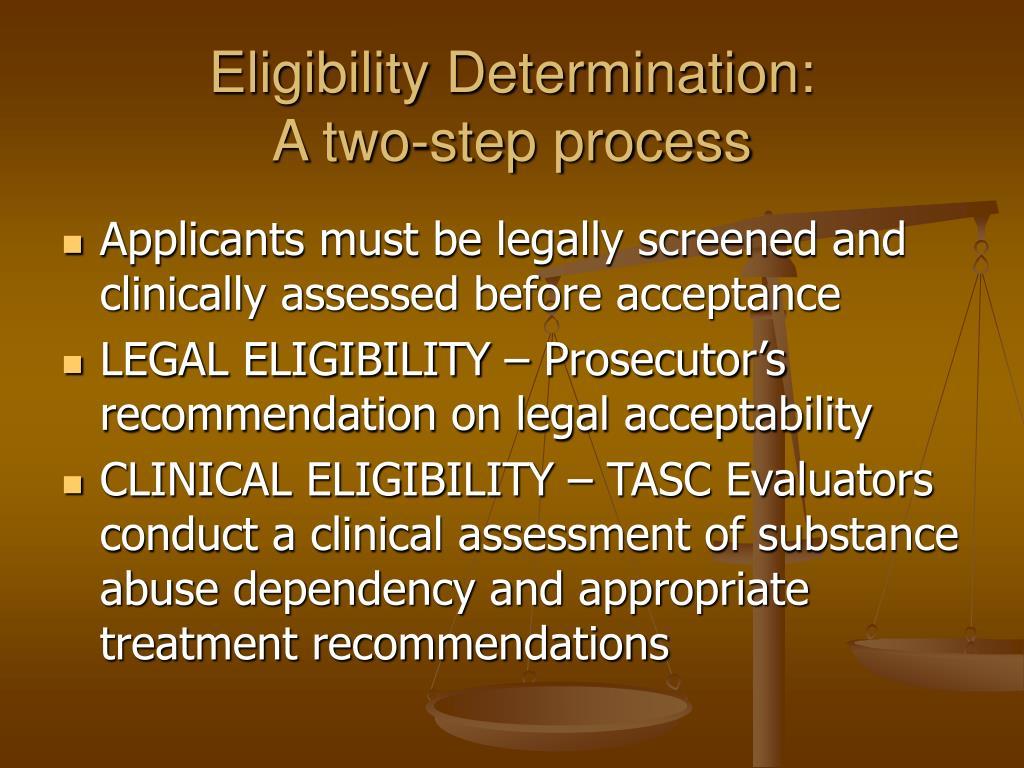 Eligibility Determination: