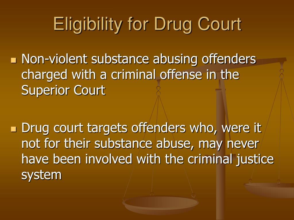 Eligibility for Drug Court