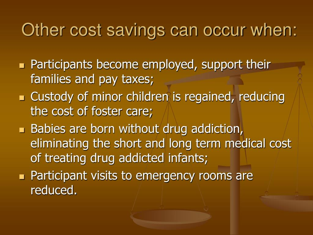 Other cost savings can occur when: