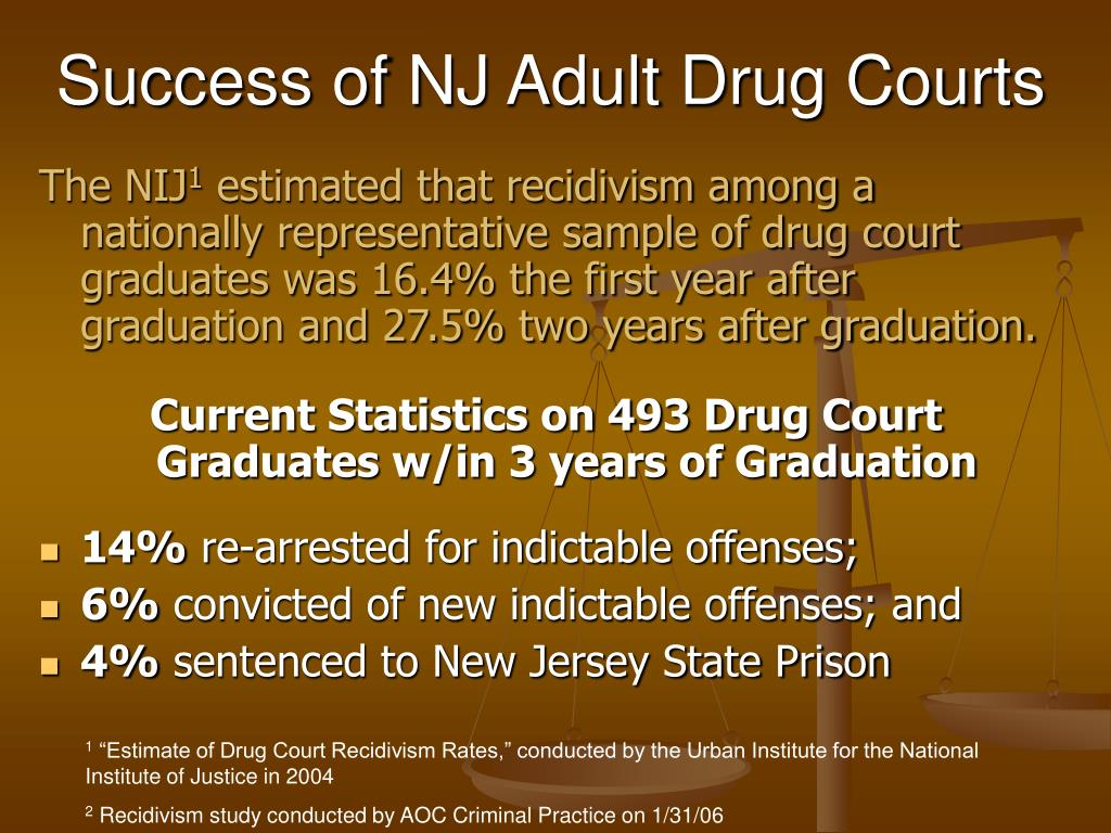 Success of NJ Adult Drug Courts