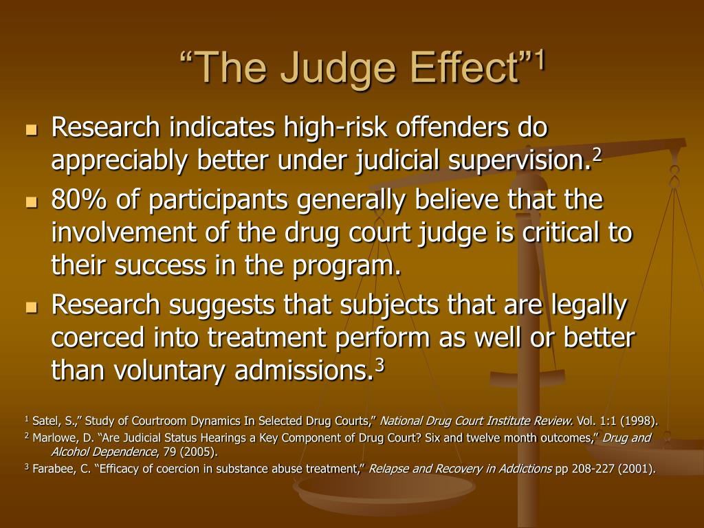 """""""The Judge Effect"""""""
